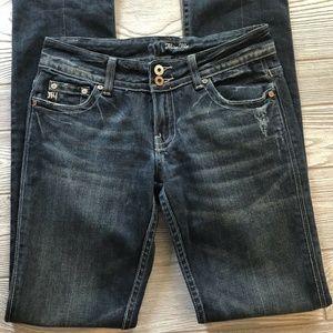 Miss Me Straight Leg Flap Pockets Kansas Wash 27